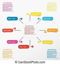 色, 網, infographic, テンプレート