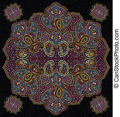 色, 花, ペイズリー織, seamless, 手ざわり