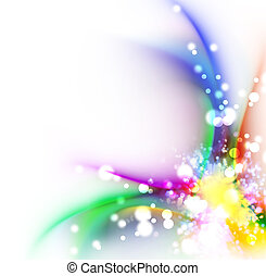 色, 虹, 抽象的なデザイン, 背景