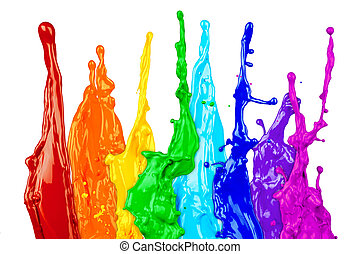 色, 虹, 抽象的, はね返し