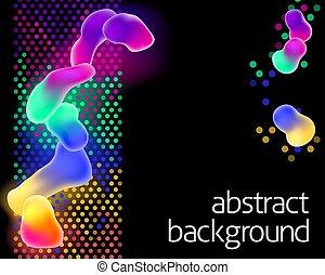 色, 虹, 抽象的, ネオン, 背景