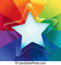 色, 虹, 抽象的, ベクトル, 背景