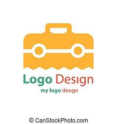 色, 袋, ベクトル, デザイン, オレンジ, ロゴ