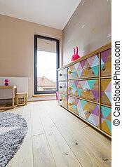 色, 赤ん坊, 部屋, 家具