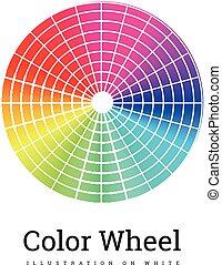 色, 車輪, ベクトル, イラスト