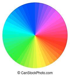 色, 車輪, 別, 色