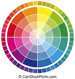 色, 車輪, 色, 12