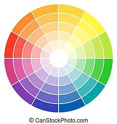 色, 車輪, 12-colors