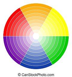 色, 車輪, 6-colors