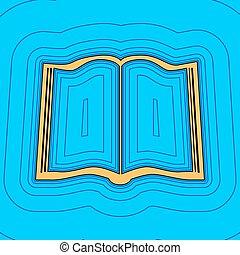 色, -, 輪郭, 青, フィールド, 空, バックグラウンド。, 本, 黒, 輪郭, vector., 地図, 印。, equidistant, sea., 波, アイコン, のように, 島, 海洋, 砂, ∥あるいは∥