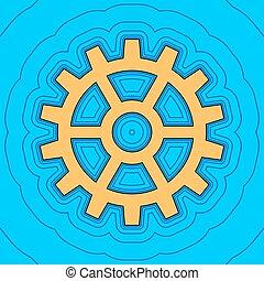 色, -, 輪郭, 青, フィールド, 空, バックグラウンド。, 黒, 輪郭, vector., 地図, ギヤ, 印。, equidistant, sea., 波, アイコン, のように, 島, 海洋, 砂, ∥あるいは∥