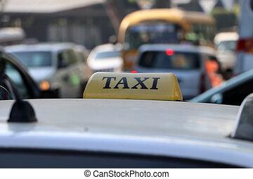 色, 通り。, 印, 黒い ライト, 黄色, テキスト, タクシー, 屋根, ∥あるいは∥, 自動車, タクシー