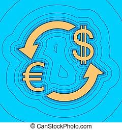 色, -, 通貨, 輪郭, 青, バックグラウンド。, 空フィールド, 黒, 輪郭, vector., dollar., アイコン, 地図, 交換, 印。, equidistant, sea., 波, ユーロ, のように, 島, 海洋, 砂, ∥あるいは∥