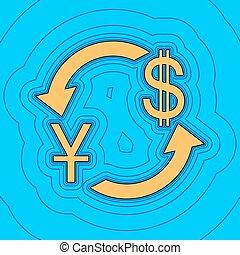 色, -, 通貨, 輪郭, 青, バックグラウンド。, 空フィールド, 黒, 輪郭, vector., dollar., 地図, 交換, 印。, equidistant, sea., 波, yuan, アイコン, のように, 島, 私達, 海洋, 砂, 陶磁器, ∥あるいは∥