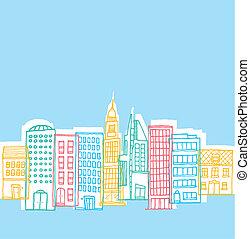 色, 遊び好きである, 建物都市