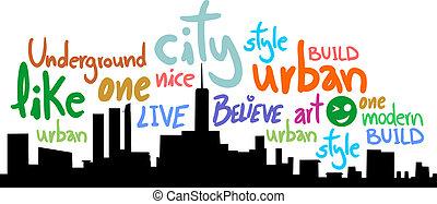 色, 都市