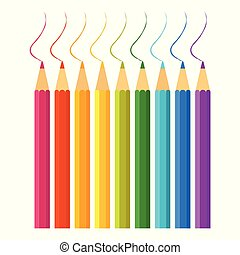 色, 鉛筆, セット