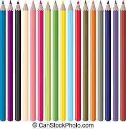 色, 鉛筆, ベクトル