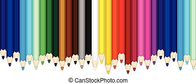 色, 鉛筆, 旗