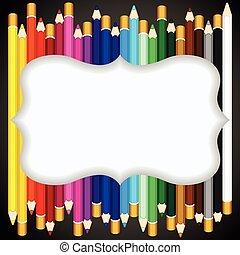 色, 鉛筆, 背景