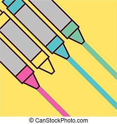 色, 鉛筆, childrens
