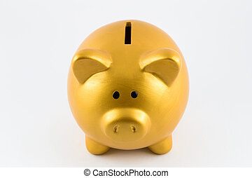 色, 銀行, 小豚, 金