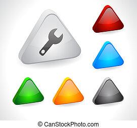 色, 3d, ボタン, ∥ために∥, web.