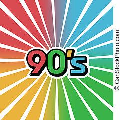 色, 90s, ベクトル, 背景, 型