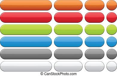 色, buttons., ブランク