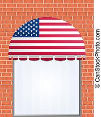 色, flagged, アメリカ, ベクトル, 日除け