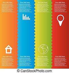 色, infographic, テンプレート, ベクトル