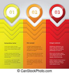 色, infographic, デザイン, 明るい, 涼しい