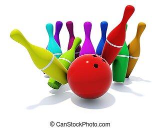 色, skittles, 白いボール, 隔離された