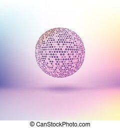 色, sphere., halftone