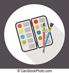 艺术, 调色板, 套间, 图标