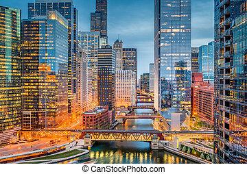 芝加哥, 伊利诺伊, 美国, cityscape