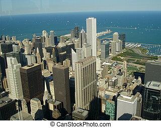 芝加哥, 城市, 空中的觀點