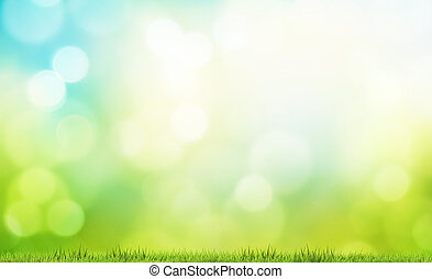 芝生, 牧草地, 自然, レンダリング, bokeh, 緑の背景, 草, 3d