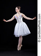 芭蕾舞女演員, 可愛, 跳舞