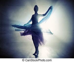 芭蕾舞女演員, 天鵝, 黑色
