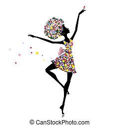 芭蕾舞女演員, 女孩, 花