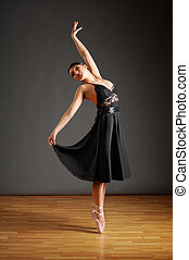 芭蕾舞女演員, 年輕, 跳舞