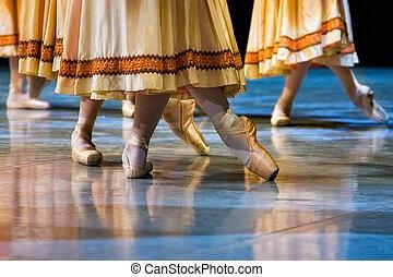 芭蕾舞舞蹈演員, 在, 拖鞋