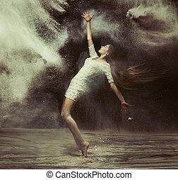 芭蕾舞舞蹈演員, 在, the, 魔術, 灰塵, 圖