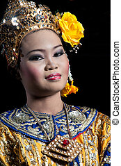 芭蕾舞, 古典,  ramayana, 泰國, 戴面具,  khon-thai