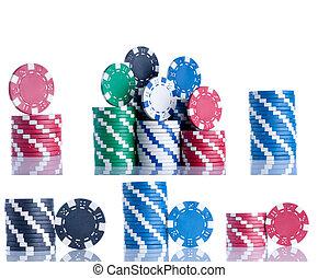 芯片, 扑克牌