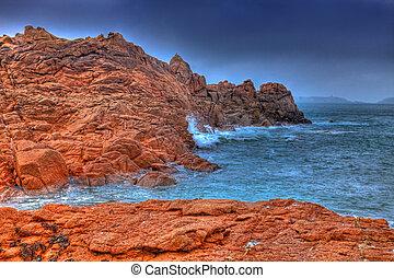 花こう岩, ピンク, 海岸
