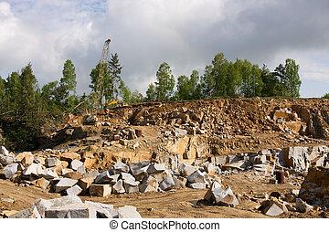 花こう岩, 鉱山, 採石場