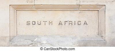 """花こう岩, africa"""", 刻まれた, """"south"""