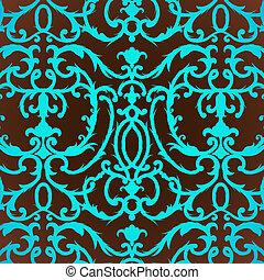 花のパターン, あざみ, 背景, ダマスク織